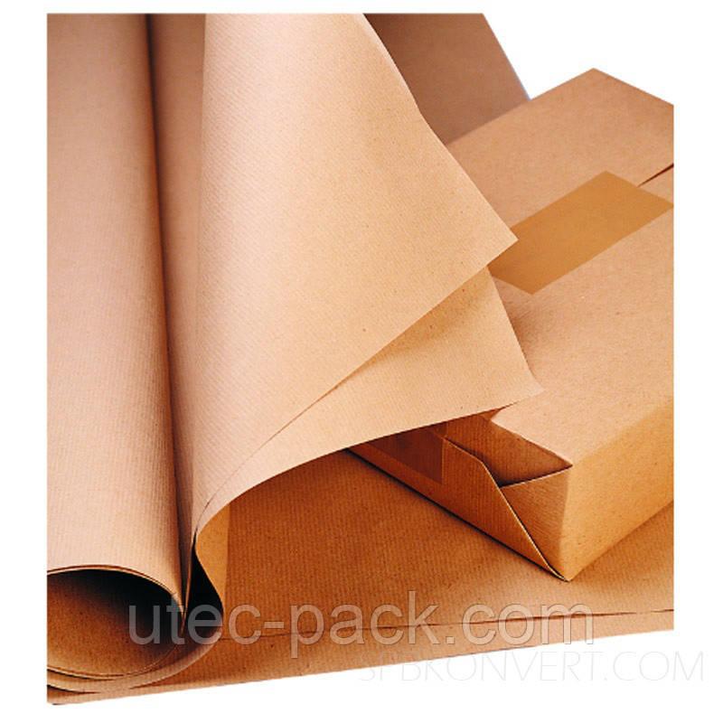 Упаковочная крафт бумага в рулоне 10 кг плотность 80 г/м2