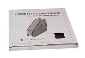 """Лоток для бумаги пластик. вертик. с передней стенкой """"Радуга"""", Economix, чёрный."""