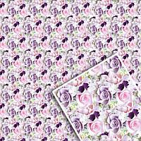Подарочная упаковочная бумага УП - Цветочная №105