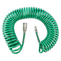 Пневматический шланг для компрессора спиральный PU 10м 5.5×8мм Refine 7012071, фото 1