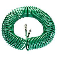 Шланг воздушный для компрессора спиральный PU 20м 6.5×10мм Refine 7012191, фото 1