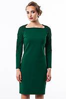 Платье женское нарядно-повседневное зеленого цвета, платье красивое молодежное