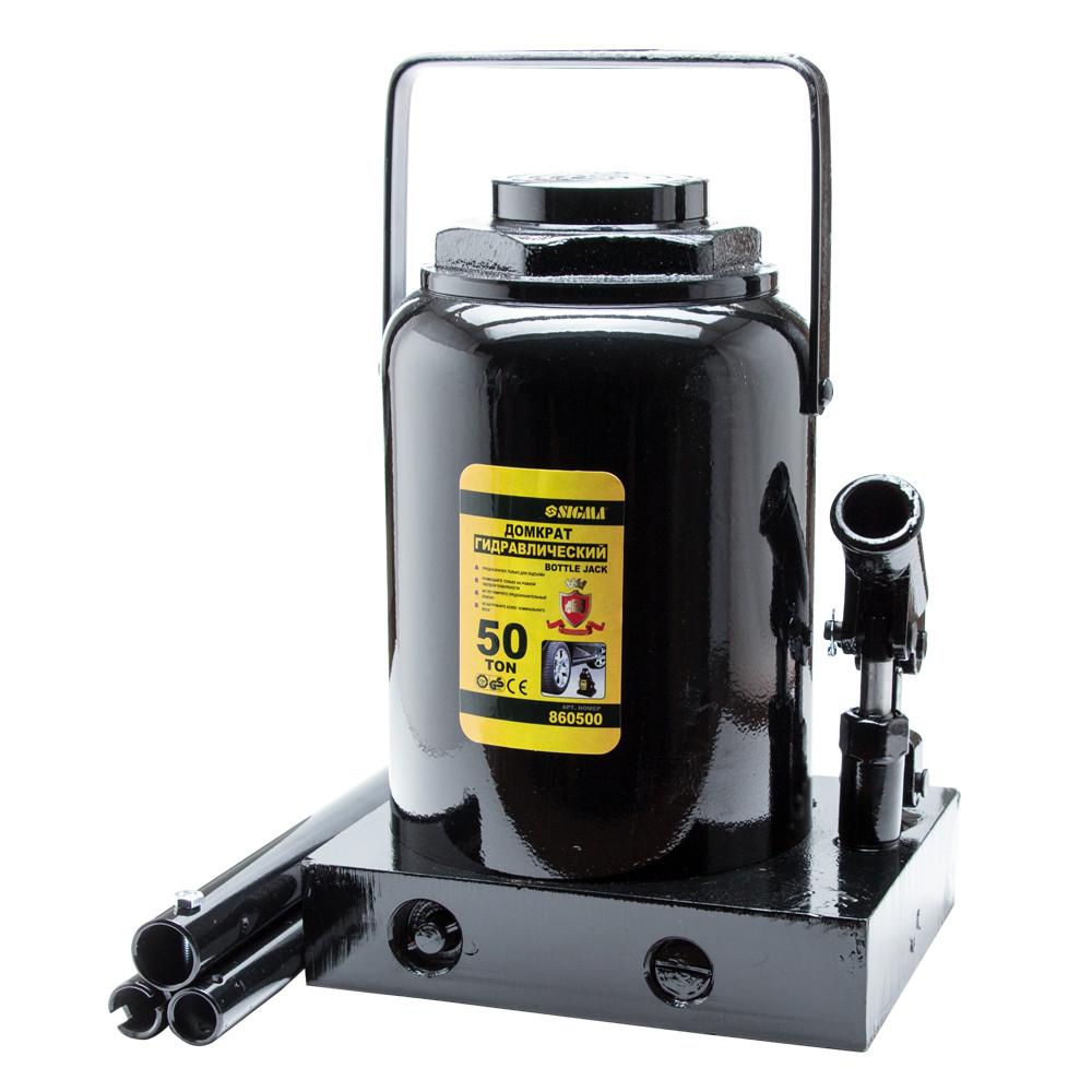 Домкрат гидравлический бутылочный 50т H 300-480мм sigma 6101501
