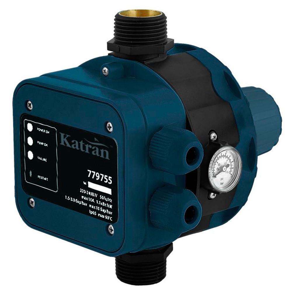 """Контроллер давл электр 1.1кВт Ø1"""" + рег давл вкл 1.5-3.0 bar Katran katran 779755"""