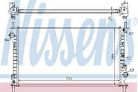 Радиатор охлаждения FORD TRANSIT 2002- 1.8 Nissens