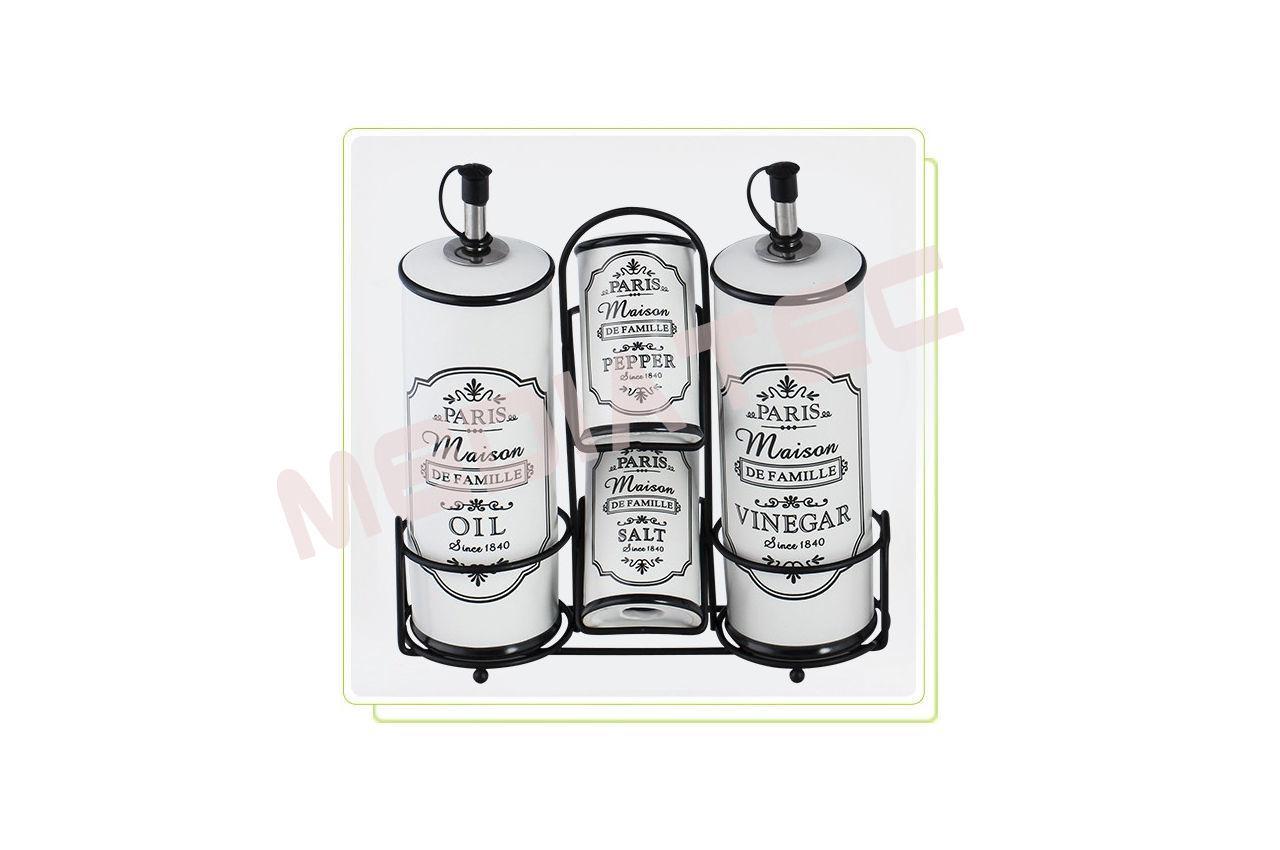 Набор для специй керамический Maestro - 5 ед. вертикальный