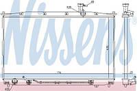 Радиатор охлаждения HYUNDAI Santa Fe II (CM) 2.0\2.7 АКП Nissens