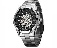 Механические часы с автоподзаводом Winner Timi Black - гарантия 12 месяцев