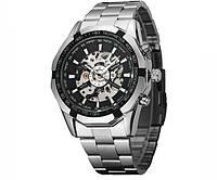 Механічний годинник з автоподзаводом Winner Timi Black - гарантія 12 місяців