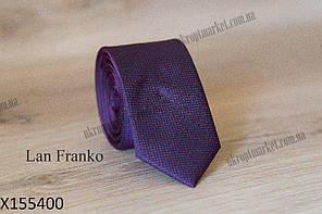 """Галстук мужской с узором узкий (5,5 см, фиолетовый) Lan Franko """"Remen"""" LM-638"""