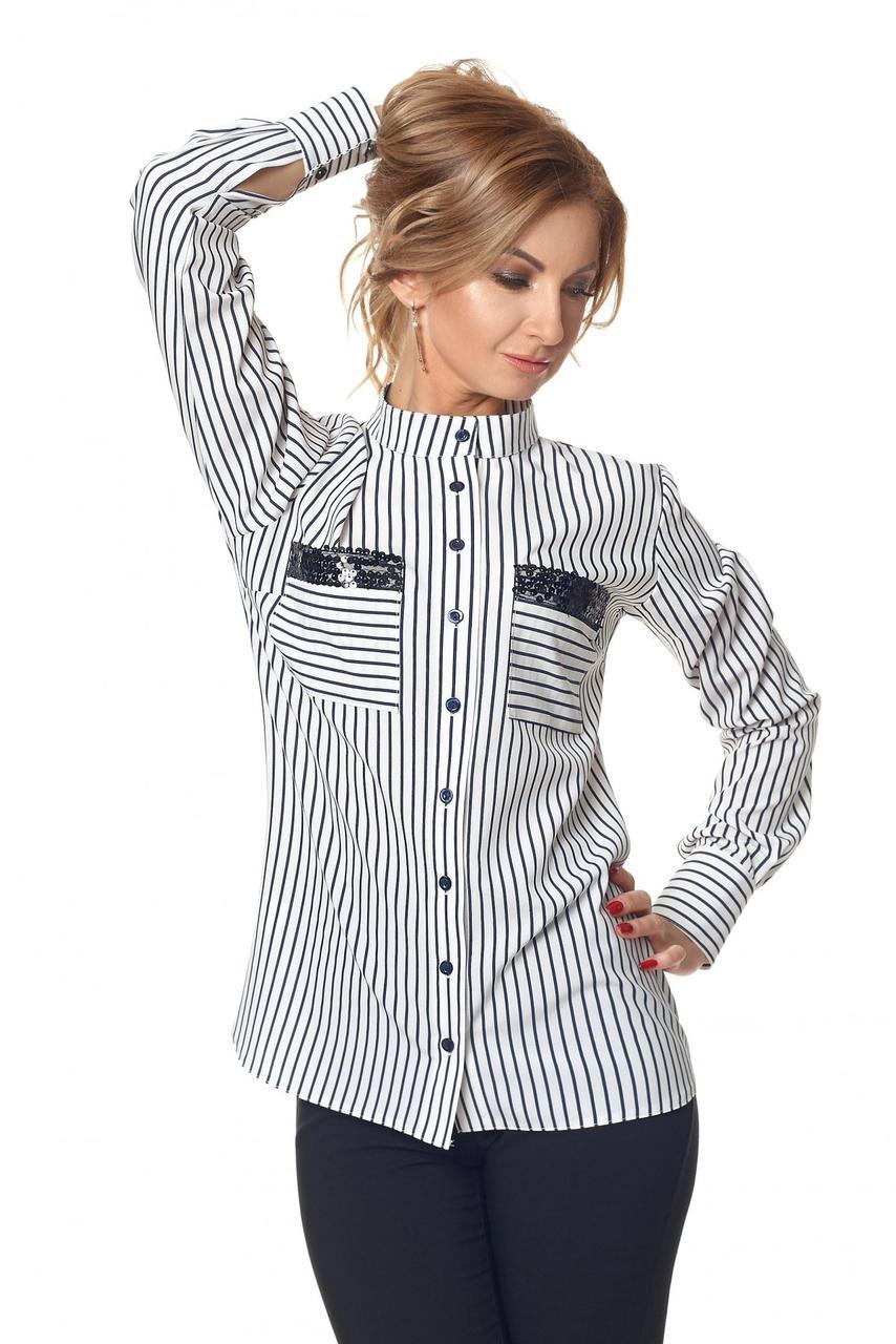Рубашка № 421, цвет молочный