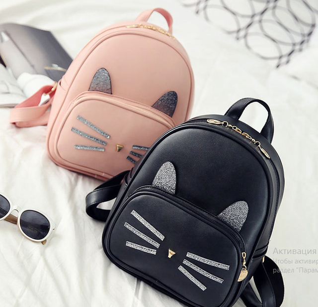 рюкзак с ушками кота