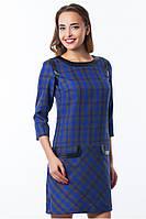 Платье женское синяя клетка, платье нарядное маленького размера, платье красивое, фото 1
