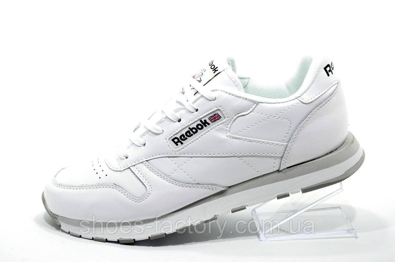 Кроссовки мужские в стиле Reebok Classic Leather, Premium White