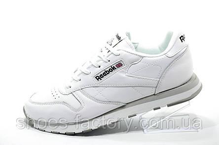 Кроссовки мужские в стиле Reebok Classic Leather, Premium White, фото 2
