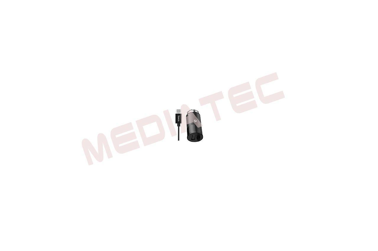 Автомобильное зарядное устройство Hoco - Z17 2USB x Micro-USB Black
