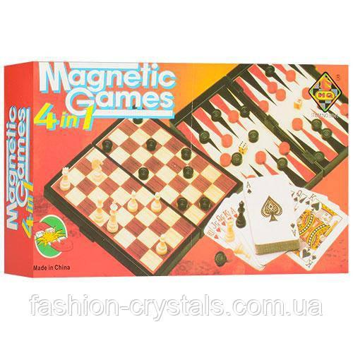 Набор настольных игр на магнитах 4 в 1