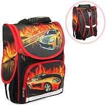 Ранец (рюкзак) - короб ортопедический для мальчика - Машинка, размер 34,5*25,5*13см Smile,98832
