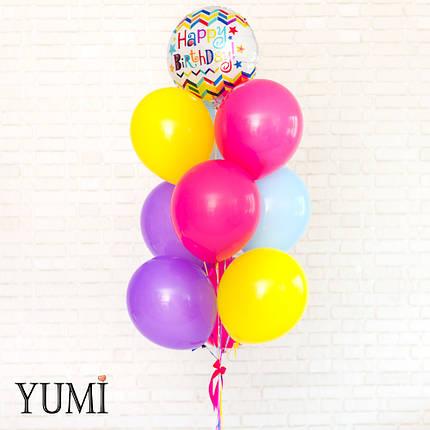 Яркая связка из воздушных шаров на детский праздник, фото 2