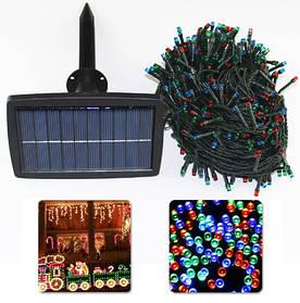 Светодиодная гирлянда на солнечной энергии 500 led RGB 50м