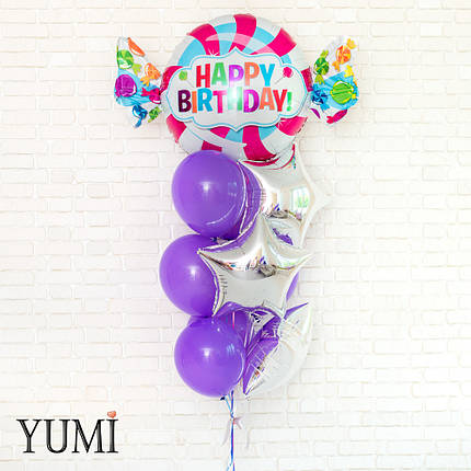 Композиция из воздушных шариков с гелием для девушки, фото 2