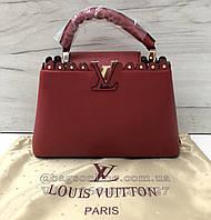 9de9651fc754 Сумка Louis vuitton capucines   LV луи виттон лв капучино капуцин копии  брендов Красный
