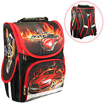 Ранец (рюкзак) - короб ортопедический для мальчика - Машинка, размер 34,5*25,5*13см Smile988323