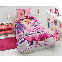 Покрывало + наволочка ТАС Barbie Princess and Popstar (Барби Принцесса и Поп-звезда)