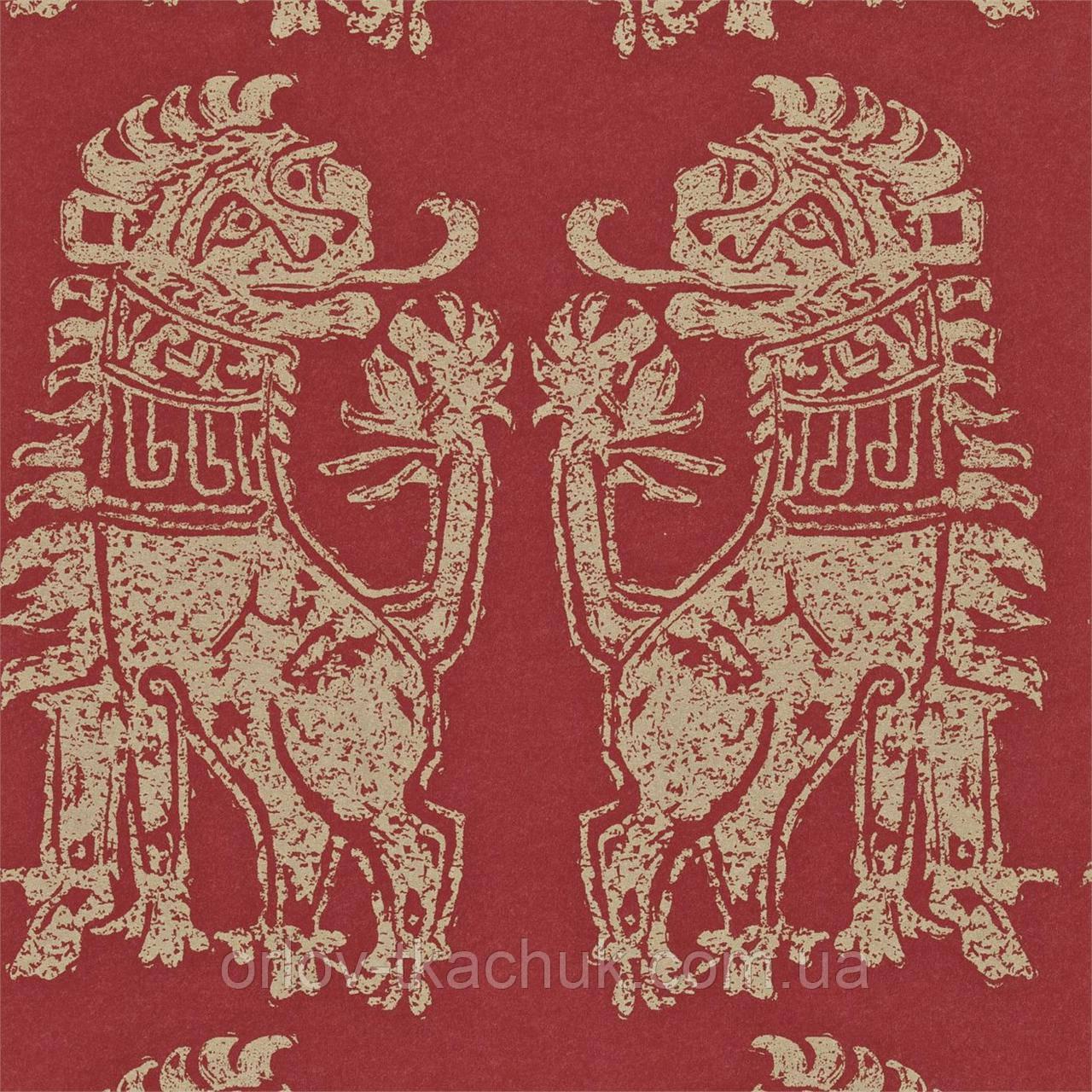 Обои бумажные Sicilian Lions Vintage Sanderson
