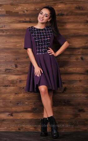 Сукня жіноча з пишною спідницею колір марсель, молодіжне плаття гарне