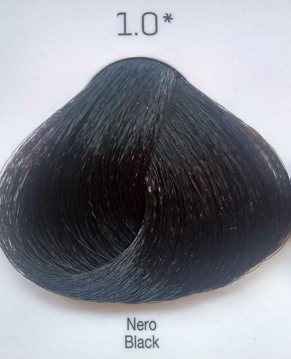 Стойкая крем-краска Color One KROM 1/0 черный , 100 мл
