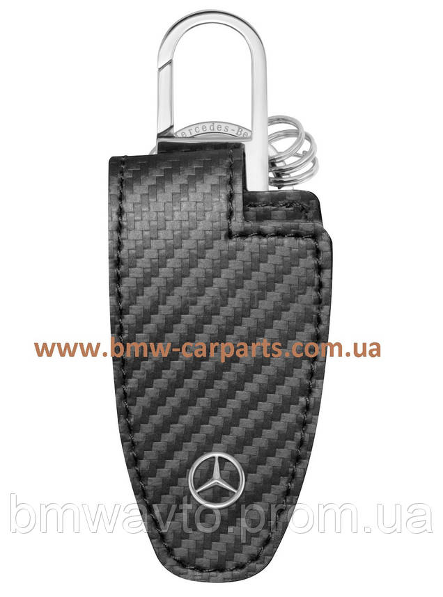 Кожаный футляр для ключей Mercedes-Benz Key Wallet, Carbon Leather, фото 2