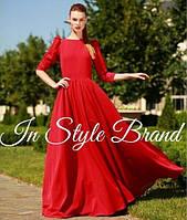 Длинное платье красное