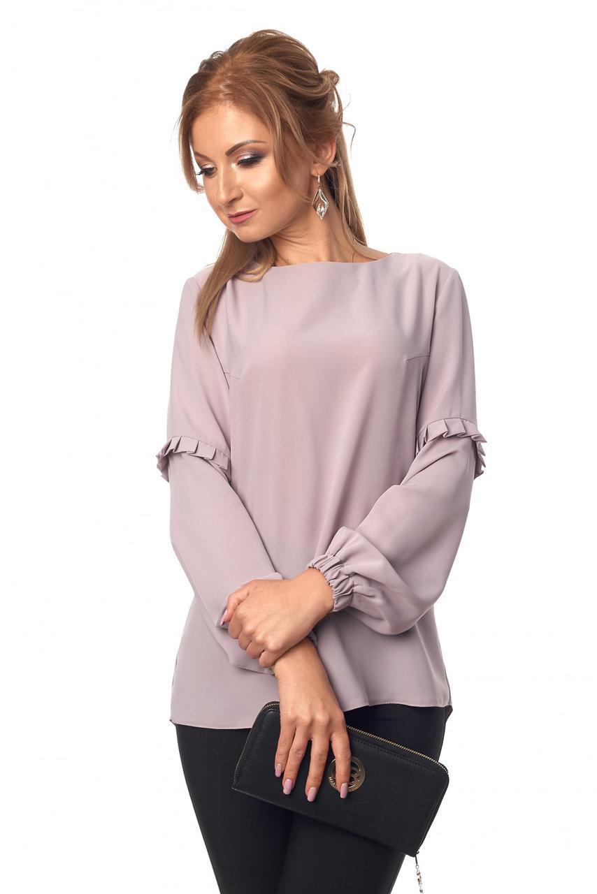 Блуза № 415, цвет серый