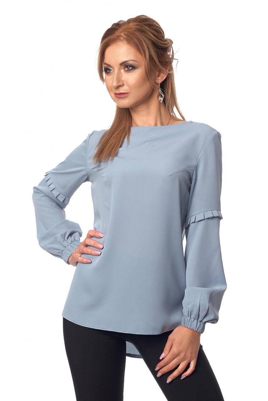 Блуза № 415, колір сіро-блакитний