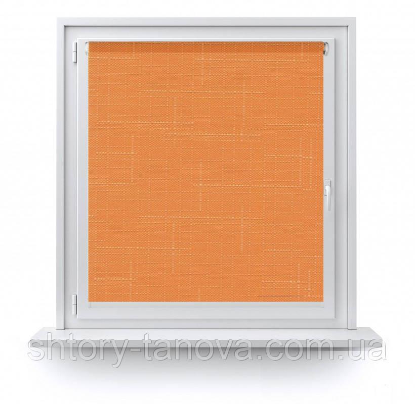 Рулонні штори тканина Марсель 606 помаранчевий