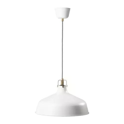 Подвесной светильник IKEA RANARP белый 38 см 203.909.70