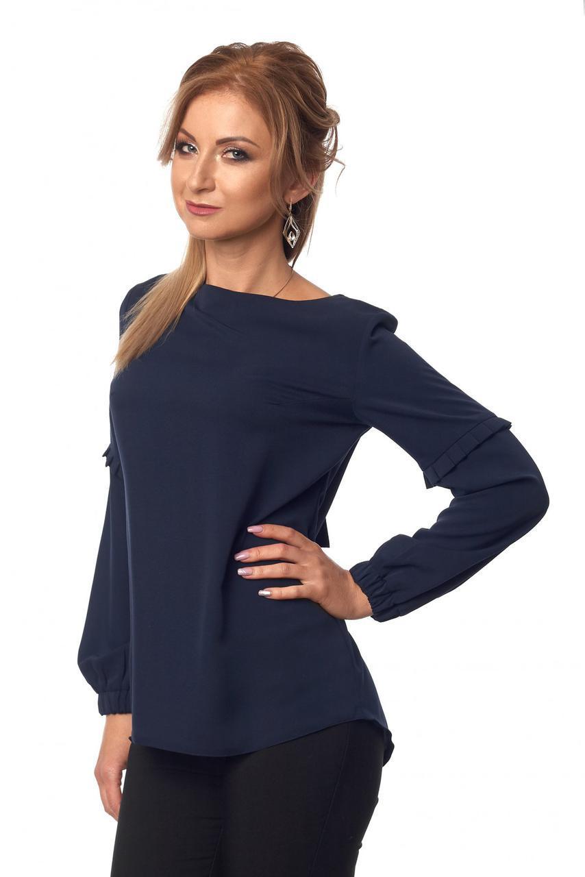 Блуза № 415, цвет тёмно-синий