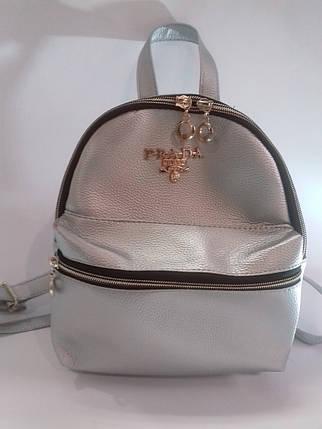 Рюкзак жіночий міні зі штучної шкіри, фото 2
