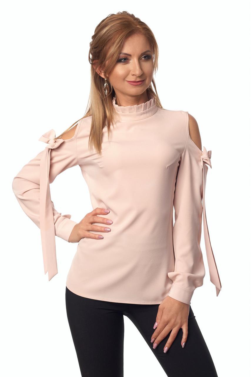 Блуза № 414, цвет пудровый