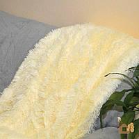 Пушистое покрывало одеяло травка цвет шампань