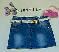 Стильная  модная  джинсовая юбка для девочки рост 116-134 см, фото 1