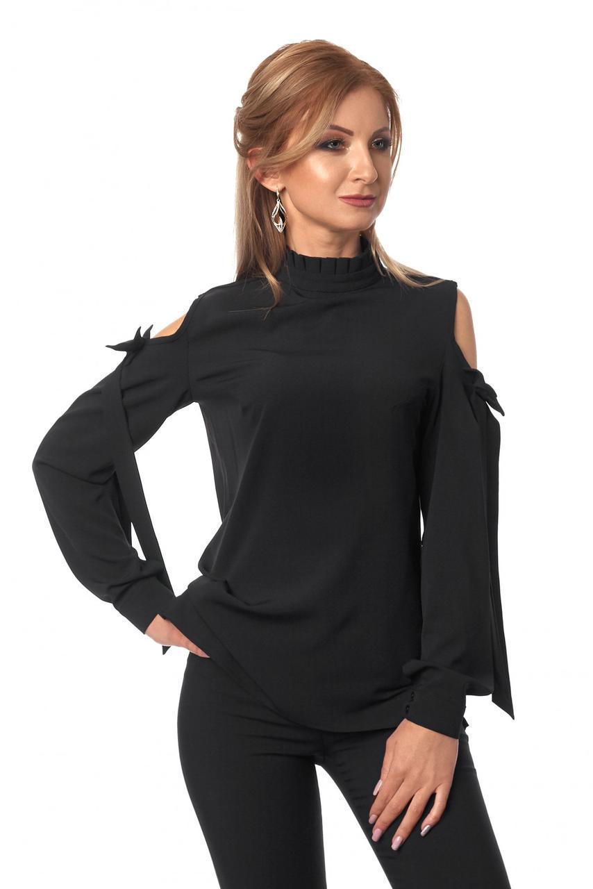 Блуза № 414, колір чорний
