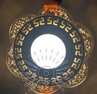 """Світлодіодна LED панель """"Афіни"""" з жовтим підсвічуванням / LM1018 коло, фото 1"""