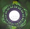 """LED панель Lemanso """"Афины"""" с зеленой подсветкой / LM1018 круг 3+3 Вт"""