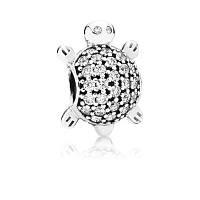 Шарм Pandora Черепаха из серебра 925 пробы и кубического циркония