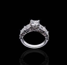 Кольцо из белого золота с бриллиантами С18Л3№15