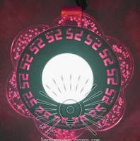 "LED панель Lemanso ""Афины"" с красной подсветкой / LM1018 круг 3+3Вт"