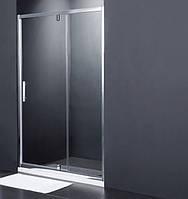 SDP1214 FRAME Душевые двери в нишу распашные- 140*190 - хром/шиншила