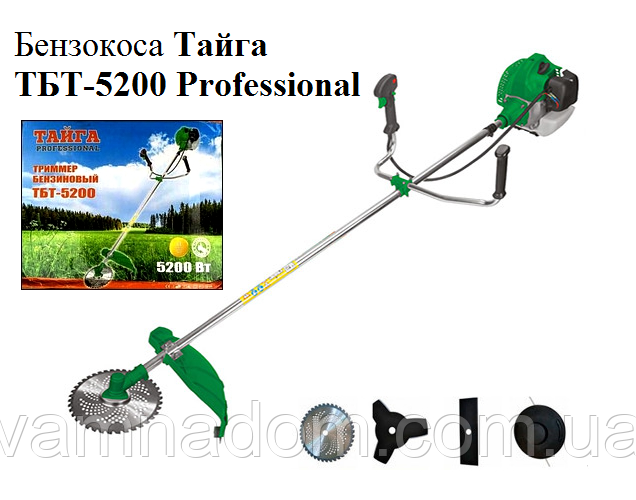 Бензокоса Тайга ТБТ-5200 Professional (3ножа+1леска)